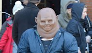 Strax takes a moment to stop for the fans.