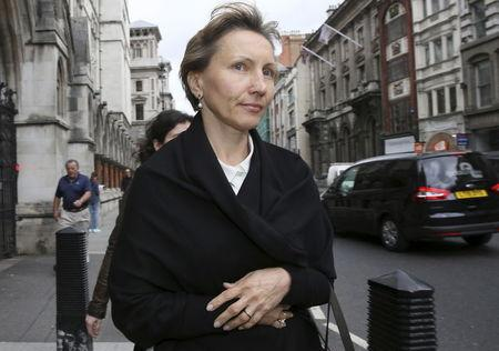Marina Litvinenko, the widow of murdered KGB agent Alexander Litvinenko, leaves the High Court in central London
