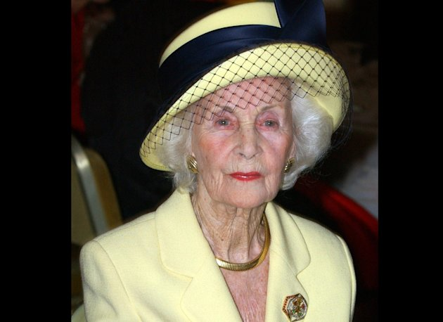 FILE - In this Sept. 15, 2005 file photo, Princess Lilian during a lunch at the city hall in Stockholm. Welsh-born Princess Lilian of Sweden, whose decades-long love story with the king's uncle was one of the better kept secrets of the royal household, has died. She was 97. The Royal Palace says Lilian died Sunday March 10, 2013 in her home in Stockholm. (AP Photo/Erhan Gzner, Scanpix, File) SWEDEN OUT