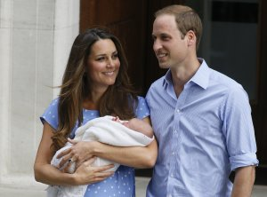 Britain's Prince William, right, and Kate, Duchess …