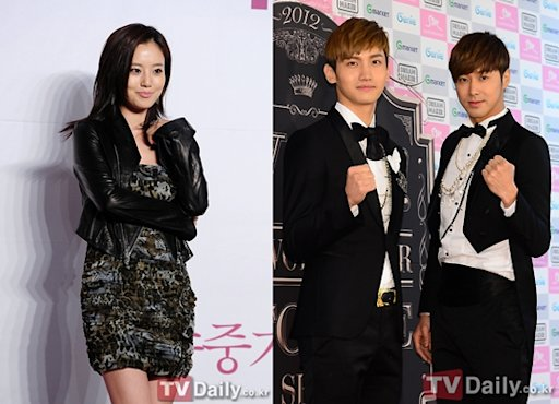 Moon Chae Won and TVXQ