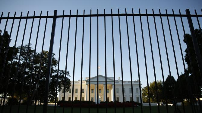 File photo of the White House seen from outside the north lawn fence in Washington