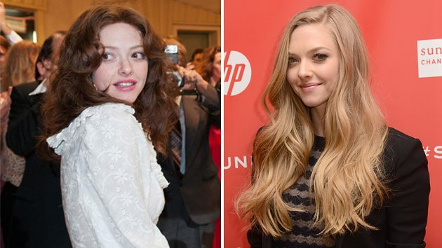 Amanda Seyfried at Sundance on Tuesday, left, and in 'Lovelace'