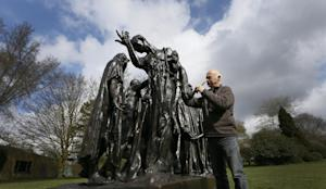 Conservator Rupert Harris waxes Rodin's 'The Burghers …
