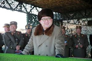 KCNA picture shows North Korean leader Kim Jong Un …