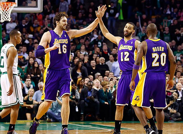 photo of meeks, kendall marshall and pau gasol