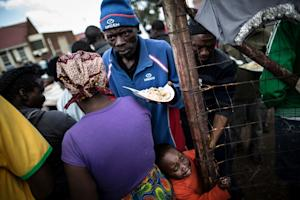 Displaced people who fled the anti-immigrant violence…