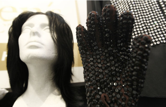 In this May 26, 2011 photo, auction items that belonged to Michael Jackson are displayed at Julien's Auctions in Beverly Hills, Calif. Items are among the memorabilia available for auction on June 25