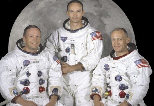 NASA file photo of the Apollo 11 astronauts