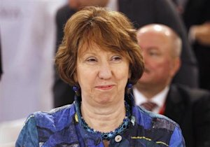 European Union foreign policy chief Ashton smiles during 23rd EU-GCC Council and Ministerial Meeting in Manama