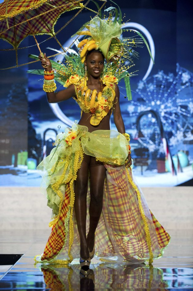 Miss St. Lucia Edward performs onstage at the 2012 Miss Universe National Costume Show at PH Live in Las Vegas