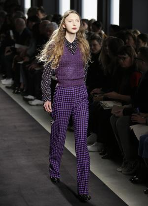 A model wears a creation for Bottega Veneta women's …