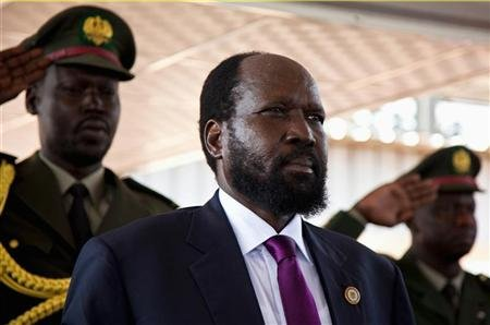 South Sudan's President Salva Kiir attends celebrations to mark the first anniversary of the country's independence at the John Garang memorial mausoleum in Juba, July 9, 2012. REUTERS/Adriane Ohanesian