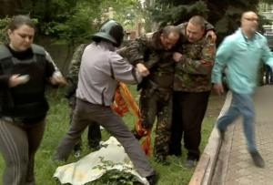 In this image taken from Rossia 24 television channel,…