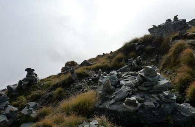 Cairns and prayer stones
