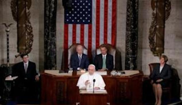 Pope Francis addresses a joint meeting of the U.S.…