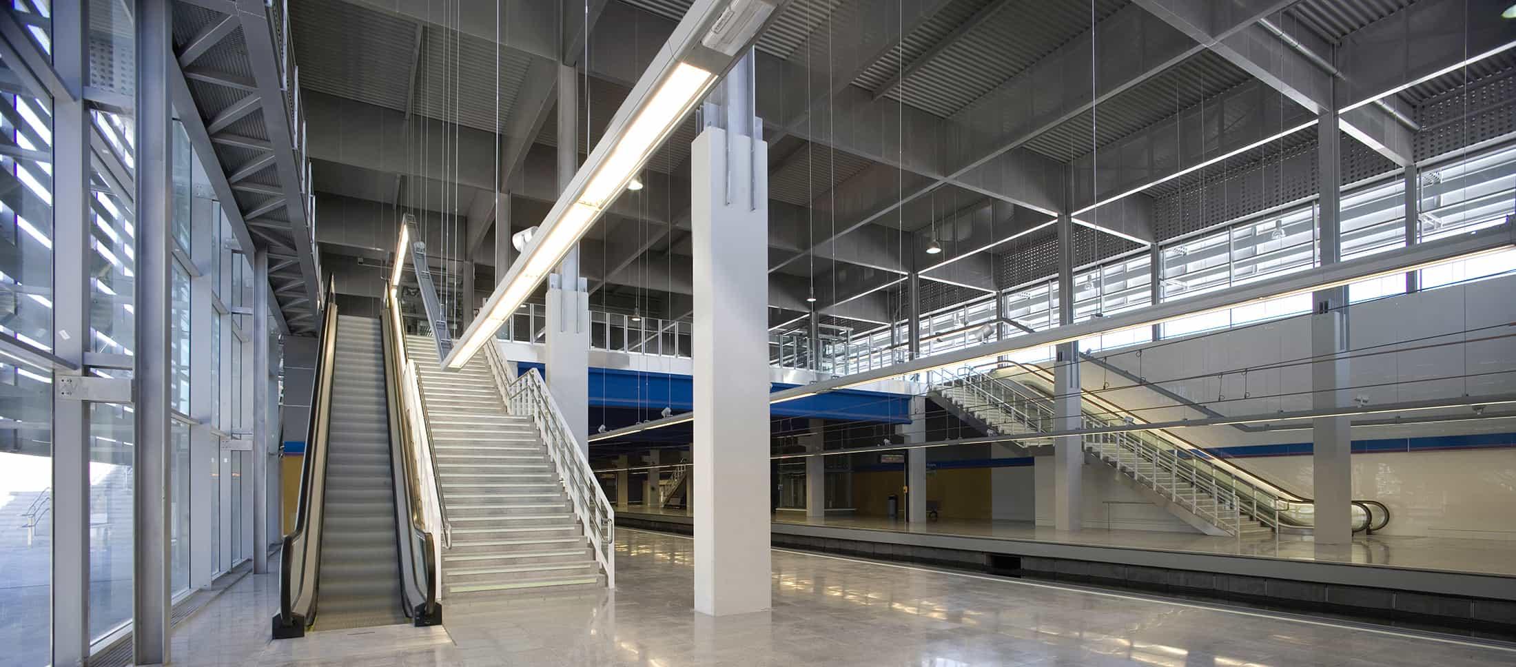 Estación METRO de Madrid - andenes -arquitectura transporte - Estación METRO de MADRID_LGV+LANDINEZ+REY | equipo L2G arquitectos, slp [ eL2Gaa ]