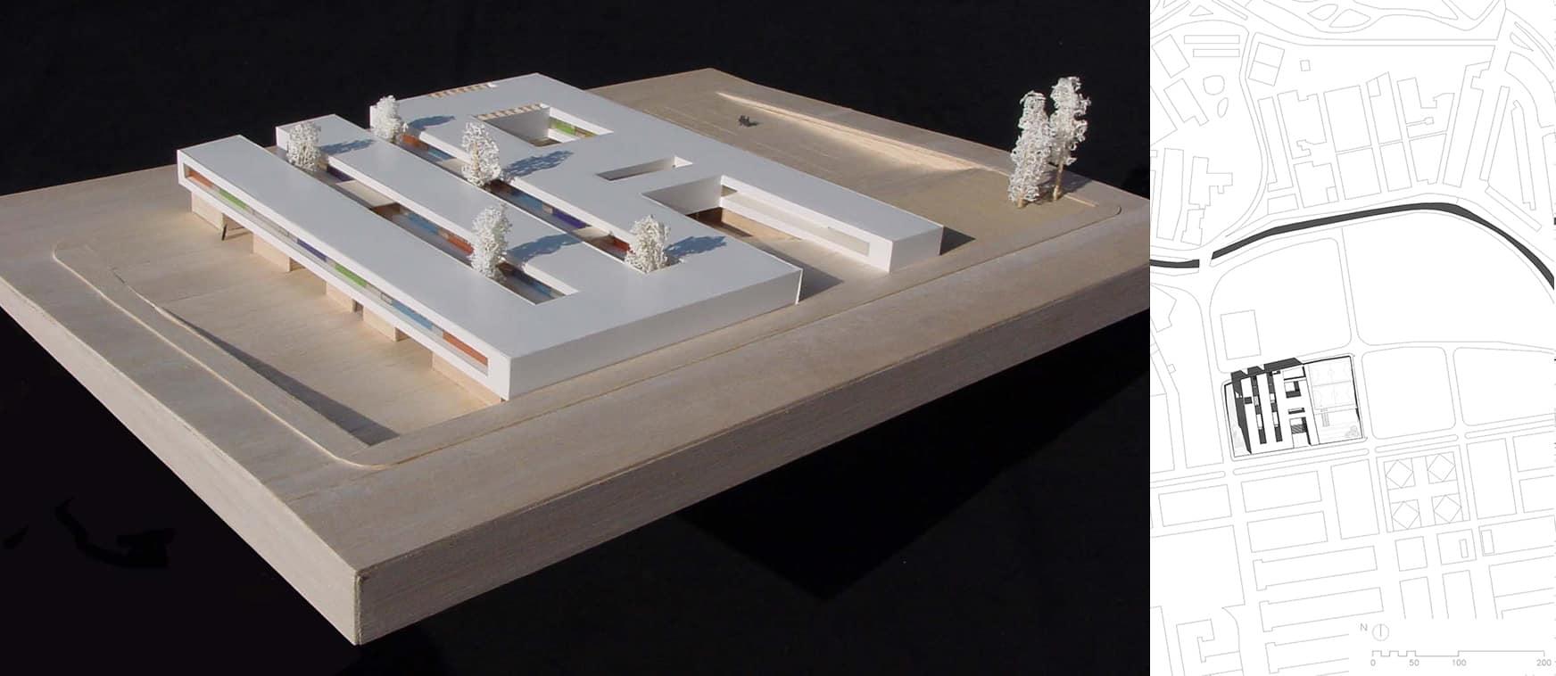 maqueta IES Badajoz- LANDINEZ+REY   equipo L2G arquitectos, slp [ eL2Gaa ]