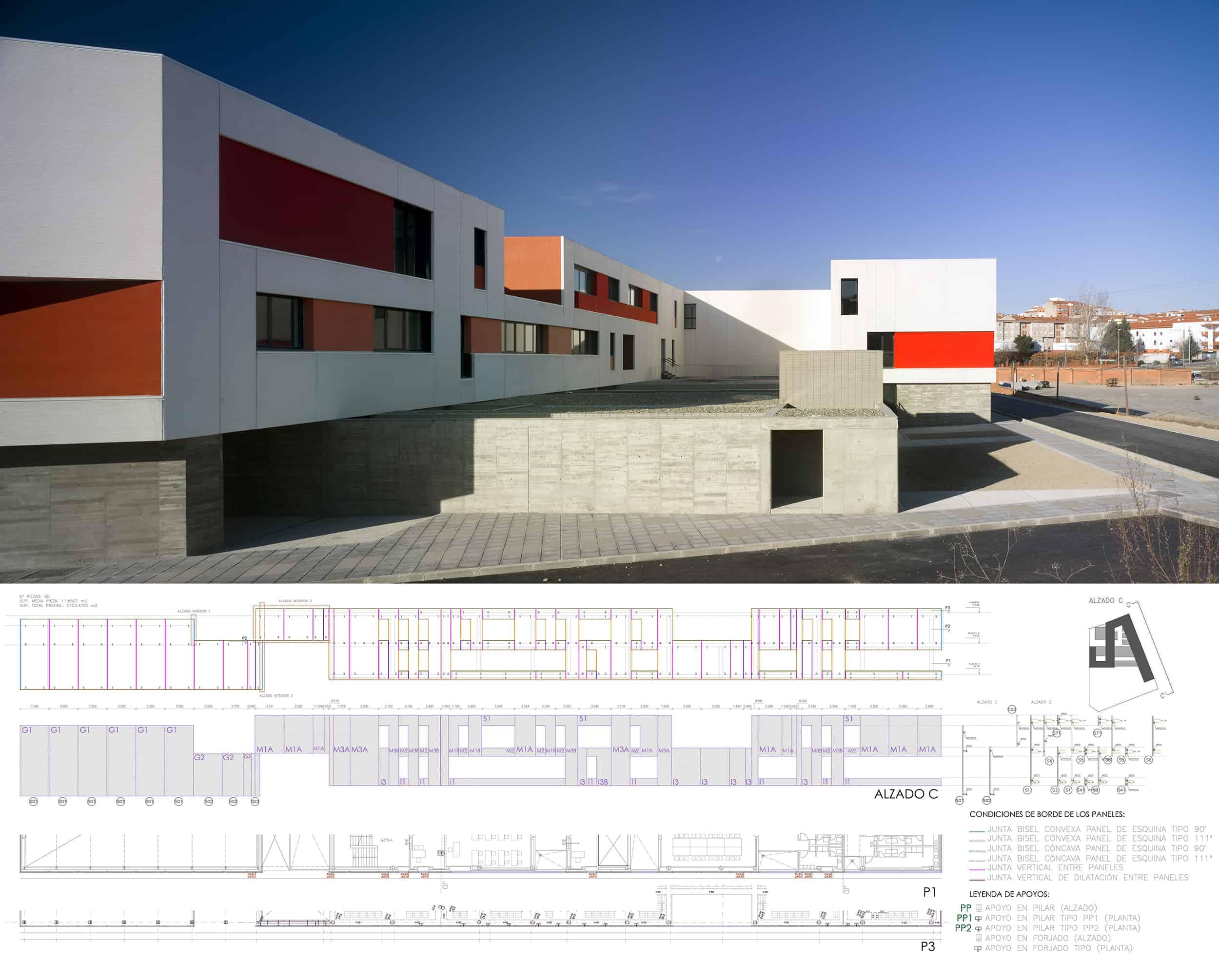 IES Coria - prefabricado hormigón - arquitectura escolar - LANDÍNEZ+REY | eL2Gaa