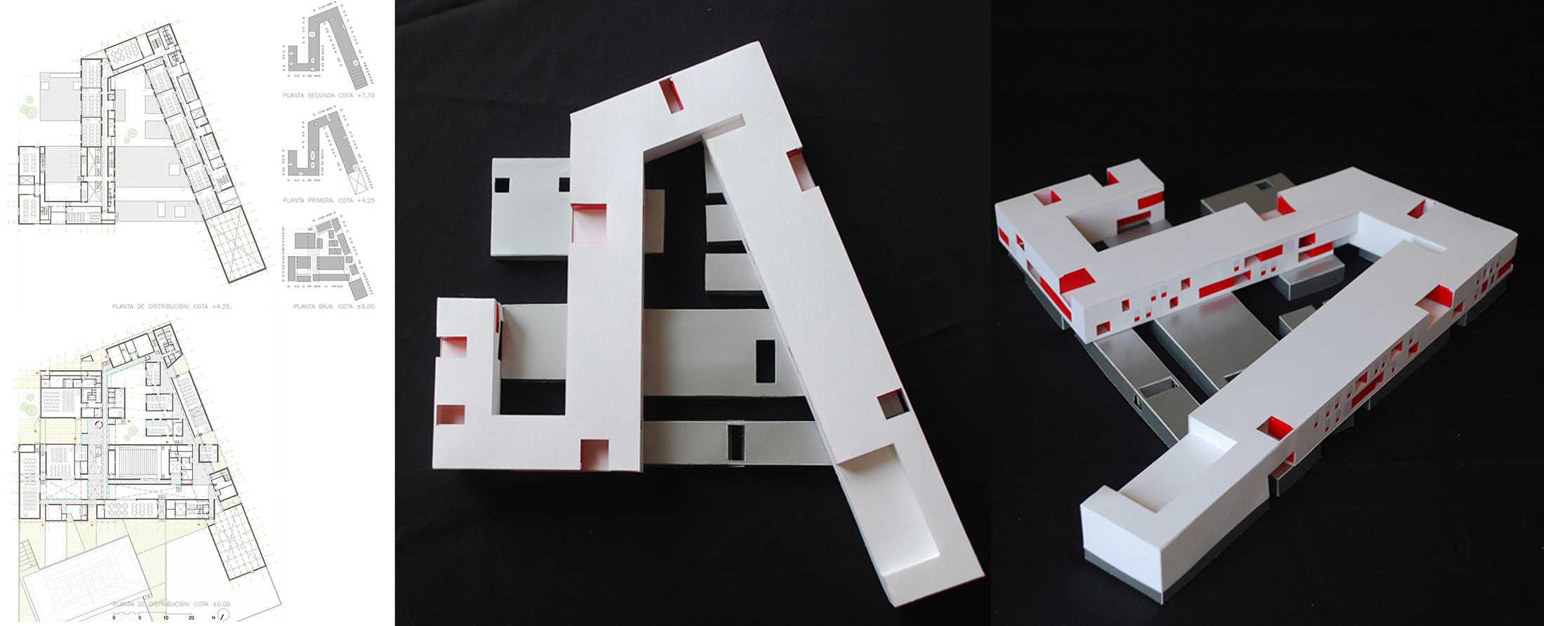 IES Coria - maqueta - arquitectura escolar - LANDÍNEZ+REY | eL2Gaa