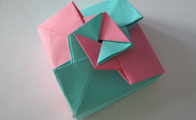 Origami Gift Box Tutorial Learn 2 Origami Origami