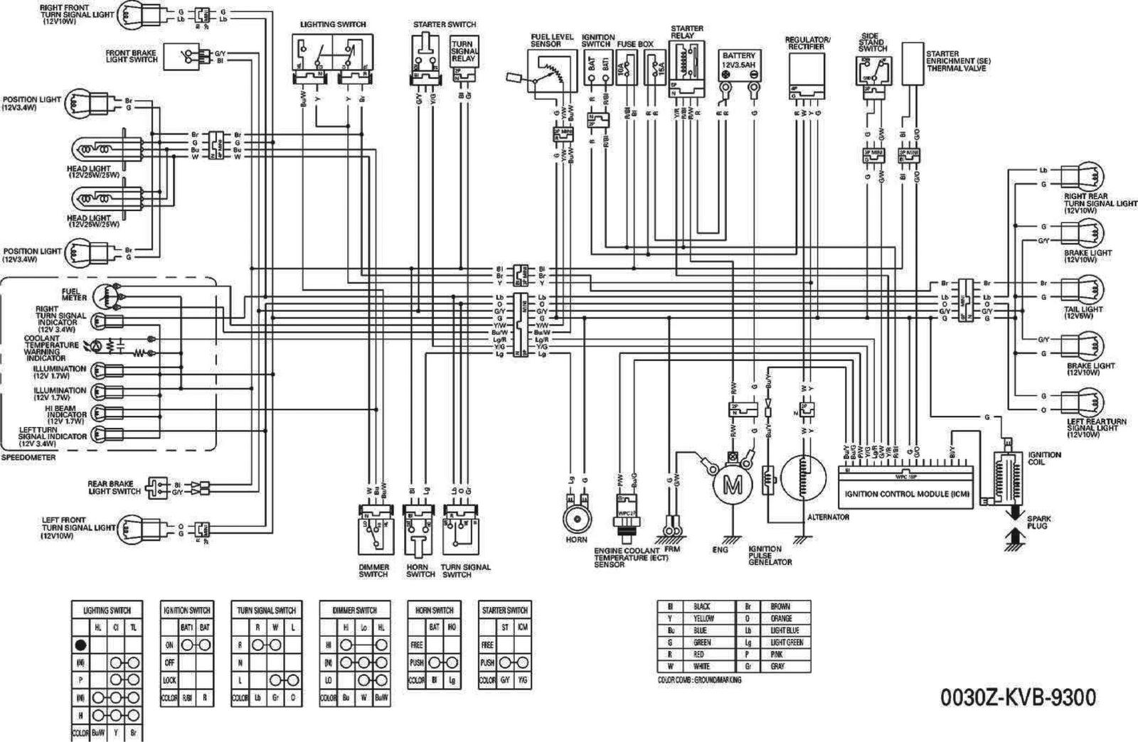 wiring diagram kelistrikan lampu mobil