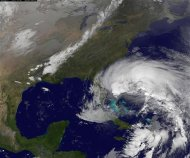 Hurricane Sandy is seen churning towards the United States in this NASA handout satellite image taken on October 26, 2012. REUTERS/NOAA/NASA/GOES/Handout