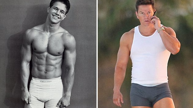 Mark Wahlberg in his Calvin Klein underwear