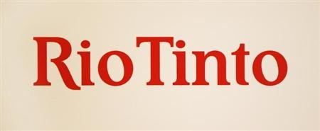 A Rio Tinto logo is displayed on the front of a wall panel during a news conference in Sydney November 29, 2012. REUTERS/Tim Wimborne