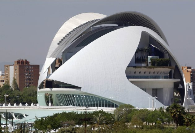 The Palace of Arts Reina Sofia at the City of Arts and Ciences is pictured in Valencia is pictured in Valencia