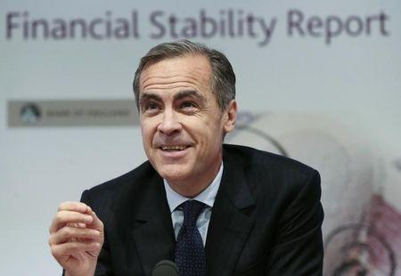 Bank of England governor Carney speaks during a news conference at the Bank of England in London
