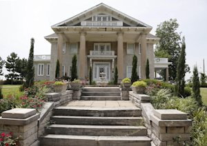 The Brady Mansion is pictured in Tulsa, Okla., Thursday,…
