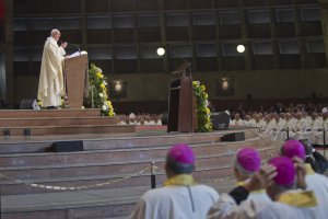 Pope Francis celebrates Mass at Rio de Janeiro's Cathedral, …