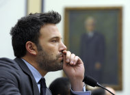 Ben Affleck, actor and founder of the Eastern Congo Initiative, listens to testimony during the House Armed Services Committee hearing on the evolving security situation in the Democratic Republic of the Congo on Capitol Hill in Washington, Wednesday, Dec. 19, 2012. (AP Photo/Susan Walsh)