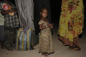A girl rescued by Nigerian soldiers from Boko Haram…
