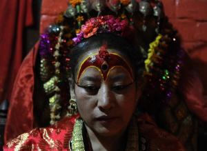 Dhana Kumari Bajracharya was enthroned in 1954 when…