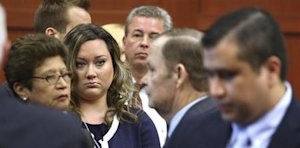 George Zimmerman's wife, Shellie, watches her husband …