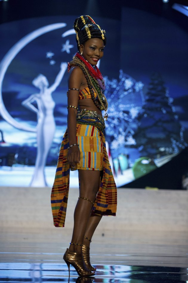 Miss Ghana Gifty Ofori performs onstage at the 2012 Miss Universe National Costume Show at PH Live in Las Vegas
