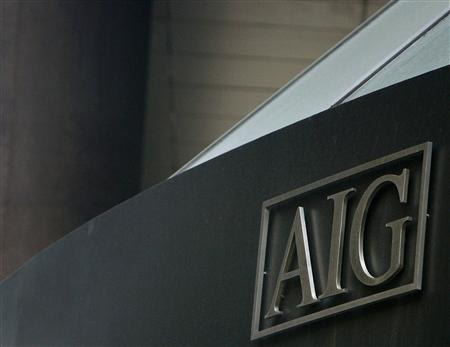 The American International Group (AIG) building is seen in New York's financial district in this March 16, 2009 file photograph. American International Group Inc, the insurer rescued by the U.S. government in 2008 with a bailout that ultimately totaled $182 billion, may join a lawsuit against the government alleging the terms of the deal were unfair. REUTERS/Brendan McDermid/Files