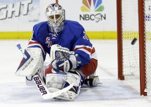 New York Rangers goalie Henrik Lundqvist, of Sweden, …