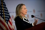 US Secretary of State Hillary Clinton, pictured, and Myanmar President Thein Sein are to hold landmark talks on Friday as Washington moves to ease US sanctions on the once pariah state