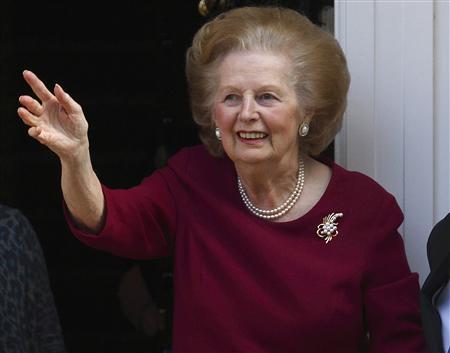 L'ex-Premier ministre britannique Margaret Thatcher, qui avait conduit les Tories à la victoire en mai 1979 et avait dirigé le pays jusqu'en 1990, est décédée à l'âge de 87 ans. /Photo d'archives/REUTERS/Andrew Winning