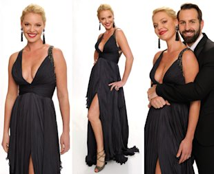 Katherine Heigl (L) and musician Josh Kelley pose for a portrait at the 2011 American Music Awards