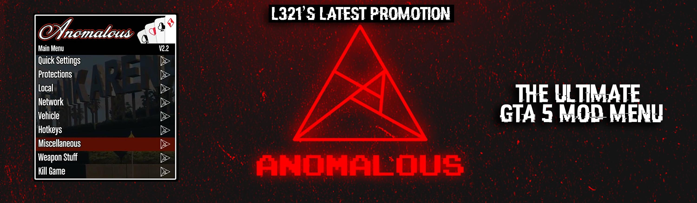 GTA 5 mod menu anomalous promotion