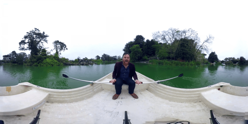 Jump into a rowboat on Stow Lake