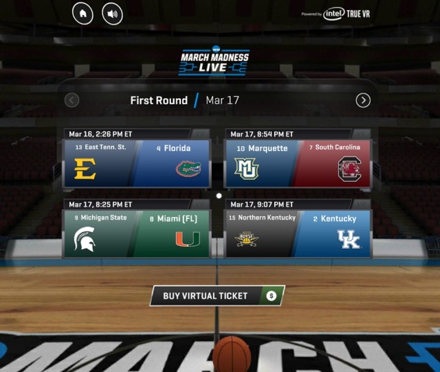During The First And Second Round Of The Tournament Each Vr Experience Will Include Multiple 360 Views Courtside That You Can Switch At Any Point