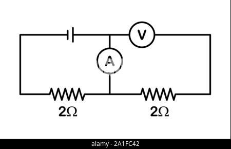 Electric circuit symbols Stock Vector Art & Illustration