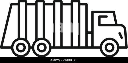 Dumper truck icon outline Stock Vector Art & Illustration