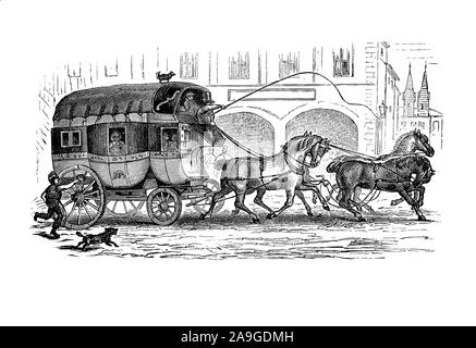 Royal mail coach post horse drawn carriage postal delivery