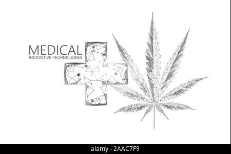 Marijuana leaf with Green Cross. Medical Cannabis. Icon